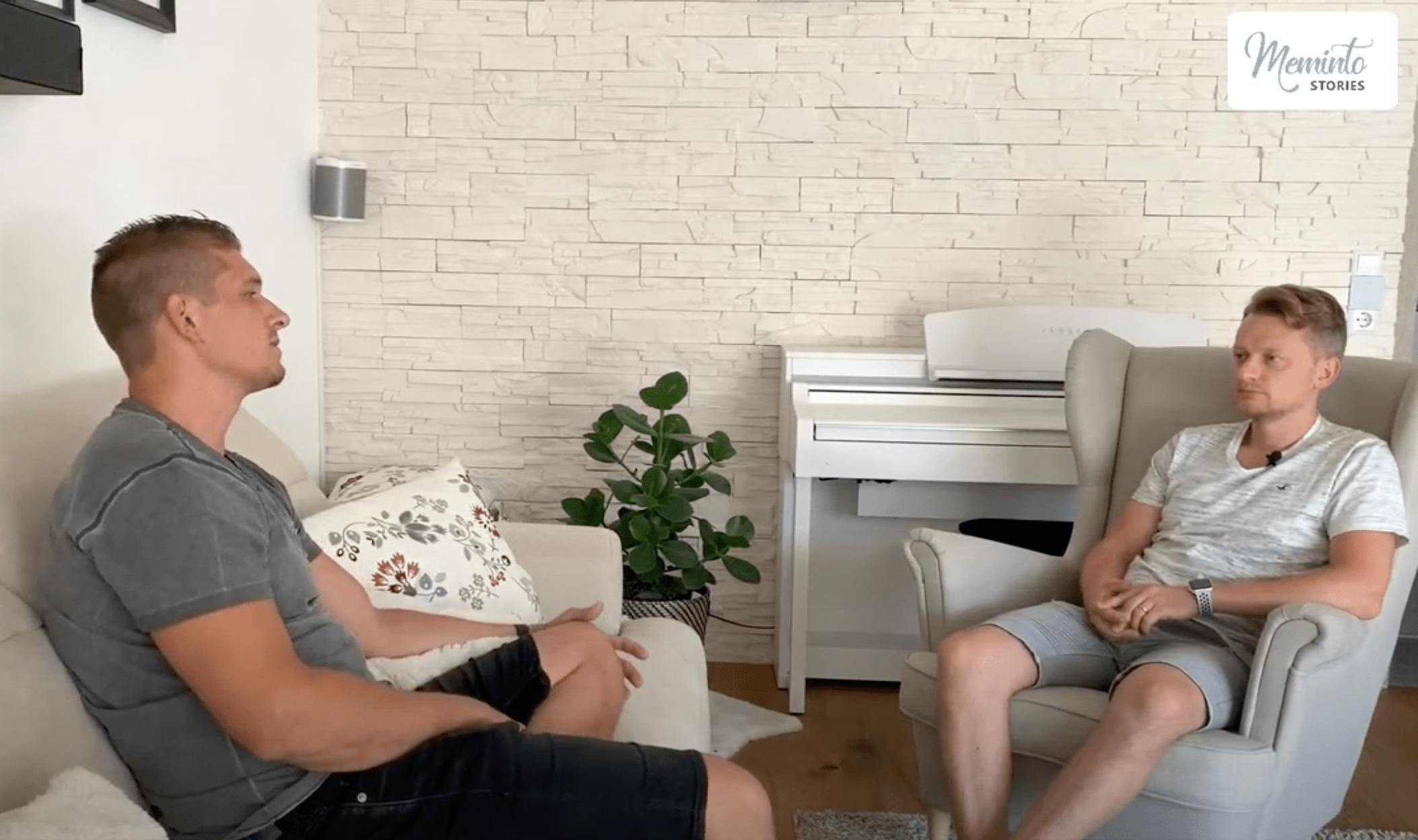 Matze und Albert im Gespräch bei Meminto Stories