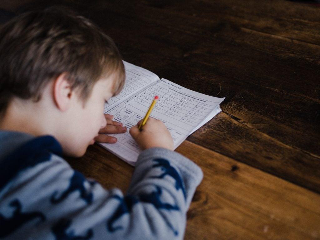 Schreiben, Schule